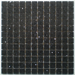 Black Quartz Stone Mosaic Tiles