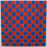 Blue and Red Mosaic